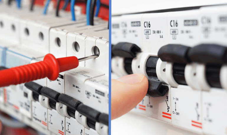 EML electrical contractors providing electrical maintenance services.