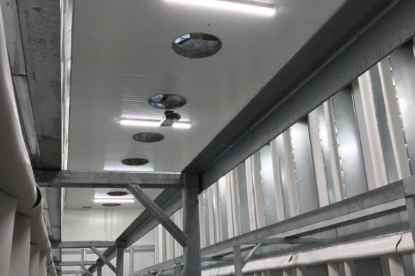 HVAC system in ceiling of industrial factory