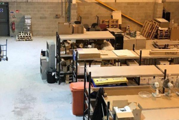 workshop and mezzanine office